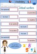 Jeu De Vocabulaire Pour L Anglais Les Nombres Ordinaux