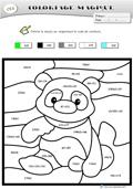 Coloriage magique panda - Coloriage magique ce2 cm1 ...
