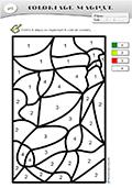 coloriage magique moyenne section chaussette de nol