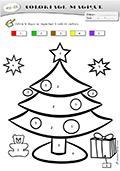 Coloriage Code Gs Noel.Fiches Coloriage Magique