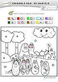 coloriage magique maternelle barbapapa