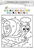 coloriage magique maternelle bob lescargot - Coloriage Magique Maternelle