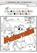 Coloriage magique livre de la jungle - Livre coloriage magique maternelle ...
