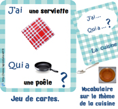 Jeux imprimer - Vocabulaire de la cuisine ...