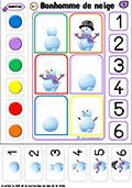logico-mathematiques: le bonhomme de neige