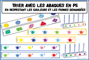 Maternelle: Tri abaques - Nathan