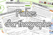 Fiches d'orthographe