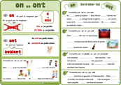 Fiches Orthographe Homophones