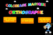 Coloriage magique orthographe
