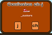confusions ch j